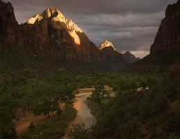 Storm Light, Gates of Zion by michaelanderson