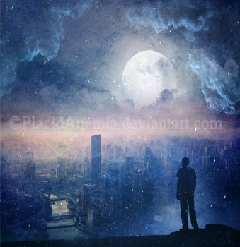 Ghost in city by PlacidAnemia