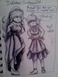 {Inktober} Day Five [Costumes: Nightstar and LS] by bunnylove2