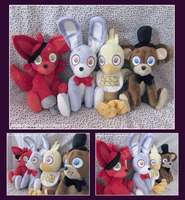 Five Nights At Freddy's Plush Gang by Fallenpeach