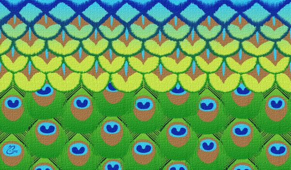 Peacock BG by Fluffinatrix