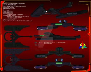 Klingon Command Ship Data sheet by Kodai-Okuda