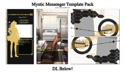 Mystic Messenger - Template Pack - UPDATED by queen-val