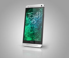 HTC One 2013 PSD mockup by Ahelor