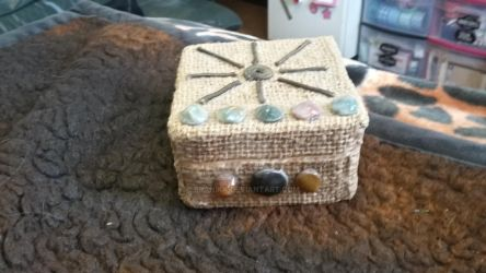 Small tarot box pic #1-frount view with stones by branika