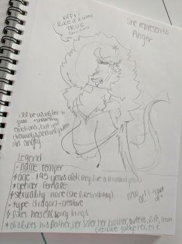 My new Oc #1 Representing Anger by MorganShips2