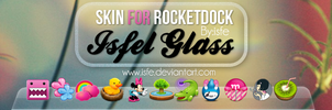 Skin for rocketdock IsfelGlass by Isfe