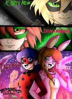 (COLLAB) Bunnie, Dragoknight, Ladybug, Chatnoir by NatalieGuest