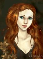 Lily Evans - young whit lilys by Aqvila