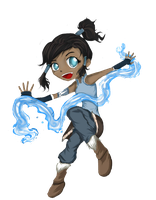 Chibi Korra by Checker-Bee