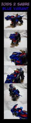 Zoids 2 Sabre: Blue Variant by GhostLiger