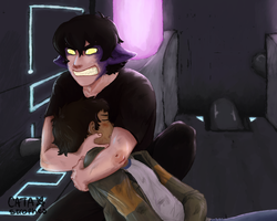 dont touch the human bf if u like ur arm by Cissil98