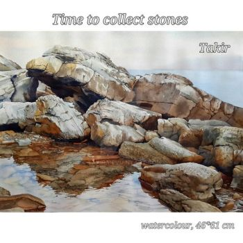 Time to collect stones (3) by Takir