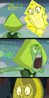 Peridot Sass- Steven Universe color sketch by SteamNewt