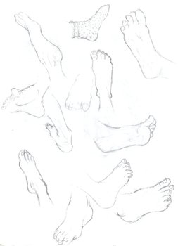 Des Pieds by moonthrush
