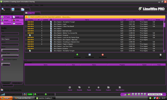 Purple n Black LimeWire Update by smoothkidrizz