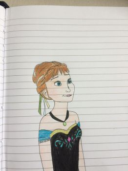 Summer Doodle-Drawing 7 - Anna the daydreamer by Anni-Frid
