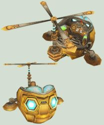 WoW Mimiron Head Mount Cut Out by atagene