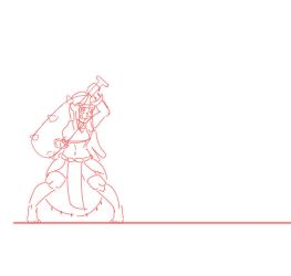 Oni girl animation test! 2 by Racnos