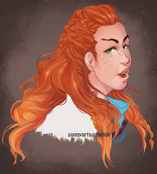 Aloy headshot by sunny-arts