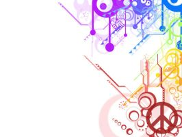 Rainbow Wallpaper 3 White by rogueXunited