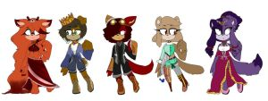 Sonic/Anthro collab adopts ONE LEFT! by illumyra