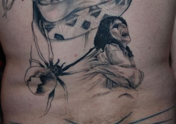 Alice Cooper Back Tattoo Session 3 by CrazeeAce