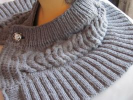 Hand-knitted Scarf / Neck Warmer / Wrap / Cowl by MagicalString