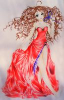Simply red dress by barbonel