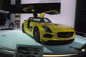 Yellow SLS AMG by JoshuaCordova
