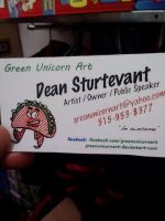 My new business cards by GreenUnicornArt
