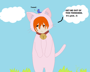 Male Autumn in a Kitty Costume xD by diamondluv180