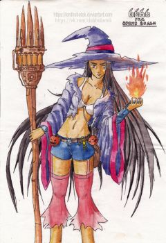 Witch (Maybe the main character) by LordHobotok