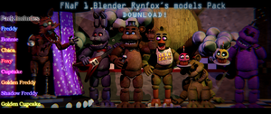 FNaF1 Rynfox Blender Models Pack! by ChuizaProductions