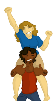 Piggyback (Sam and Neil) by BlitheBassoon
