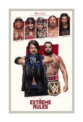 Extreme Rules'18 custom poster by Brightstar2003