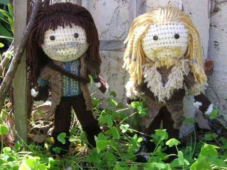 Crochet Fili and Kili by Zikaeqs