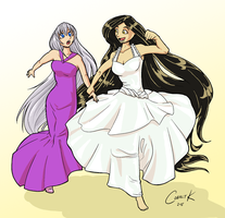 Commission - Rowena and Sylvia by Catomix