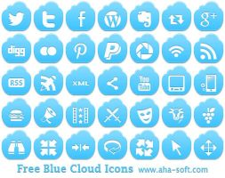 Free Blue Cloud Icons by aha-soft-icons