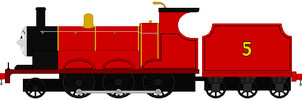 James the Red Engine by DanielArkansanEngine