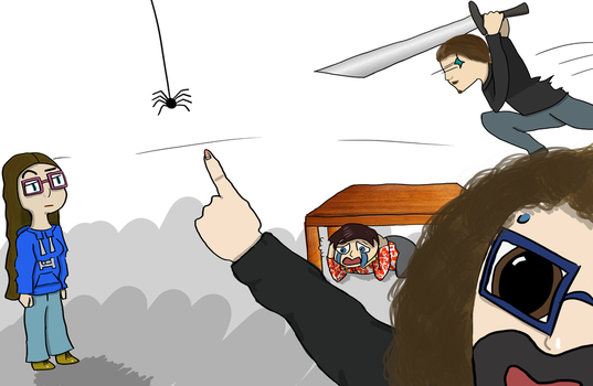 Draw the Squad Spiderscare- Uni by EmuCat