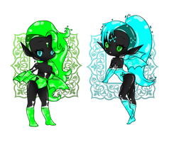 Bottle Babes   Toxic Twins  CLOSED by CrystalQuill