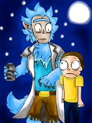 Werewolf Rick and Morty by miller7751