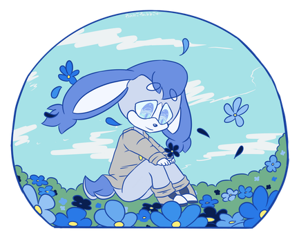Finished YCH .:Why-So-Blue:. by Heart-Beat-Music