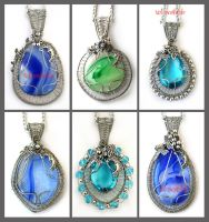 Pendants X by Faeriedivine