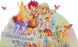 Signature - Natsu and Lucy by TifaxxLockhart