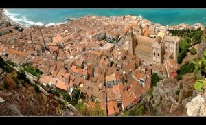 Over The Roofs Of Cefalu - Sicily - Panorama by skarzynscy