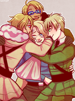 Hetalia: FACE Family Post-WWII by LuciferianRising