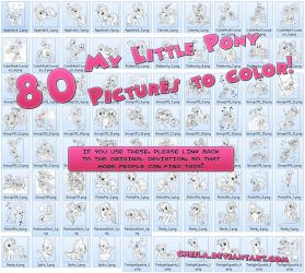 80 MLP pics to color! by Cheila