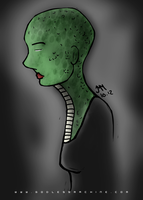Reptile Girl by godlessmachine